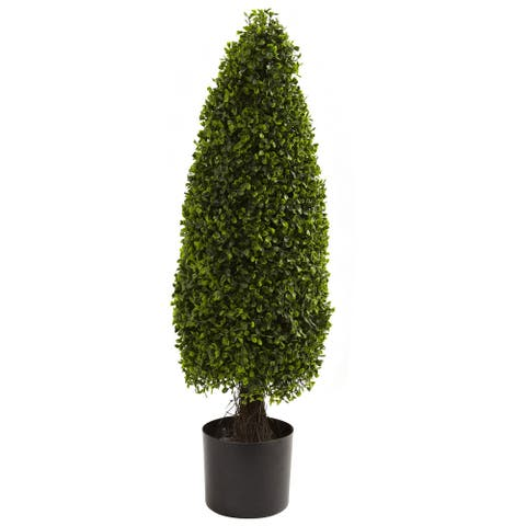 Nearly Natural 3-foot Boxwood Decorative Plant - Green