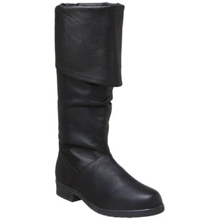Pleaser Maverick Men's Pig Leather Knee High Boots