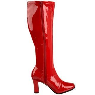Funtasma Kiki Women's 3.25-inch Chunky Heel Knee High Gogo Boots