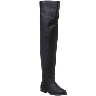Pleaser Maverick Men's Pig Leather Thigh High Boots (3 options available)