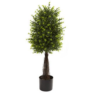 Nearly Natural 35-inch Ixora Topiary UV-resistant Indoor/ Outdoor Decorative Plant