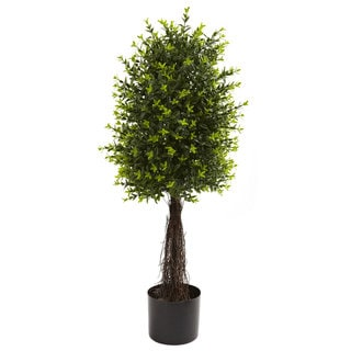 Link to Nearly Natural 35-inch Ixora Topiary UV-resistant Indoor/ Outdoor Decorative Plant Similar Items in Decorative Accessories