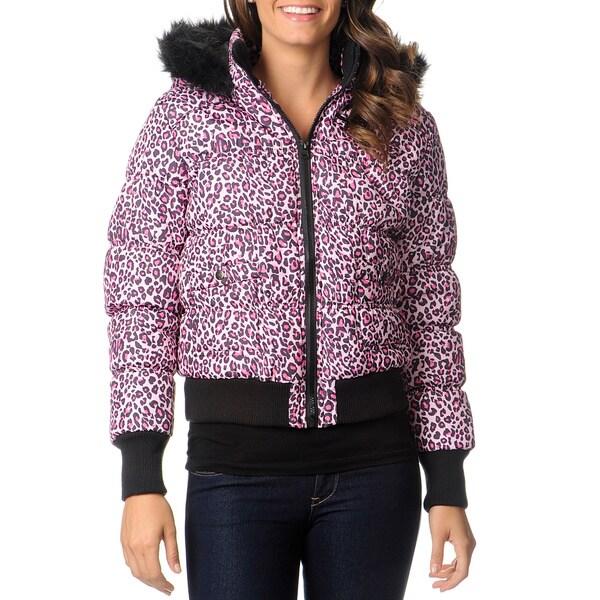 Coffee Shop Juniors' Leopard Puffer Coat
