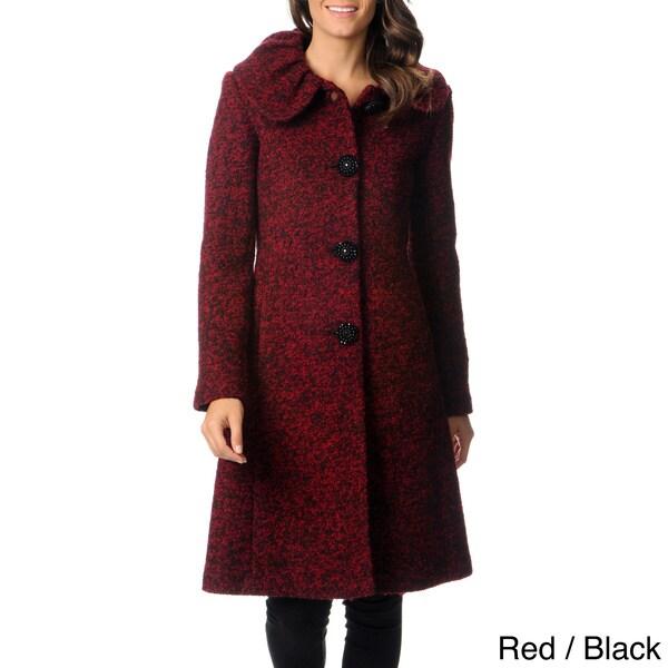 Ivanka Trump Women's Boucle Collar Full-length Coat