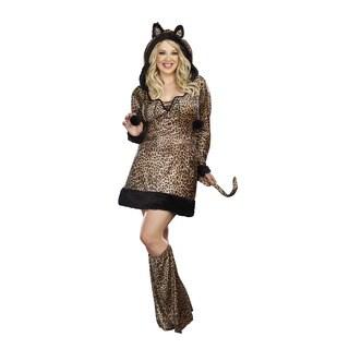 Dream Girl Women's Plus Size 'Cheetah-Luscious' 2-piece Dress Costume