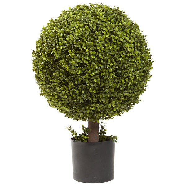 Shop Nearly Natural 27 Inch Boxwood Ball Topiary