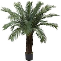Nearly Natural 4-foot Cycas Tree UV Resistant Indoor/ Outdoor Decorative Plant