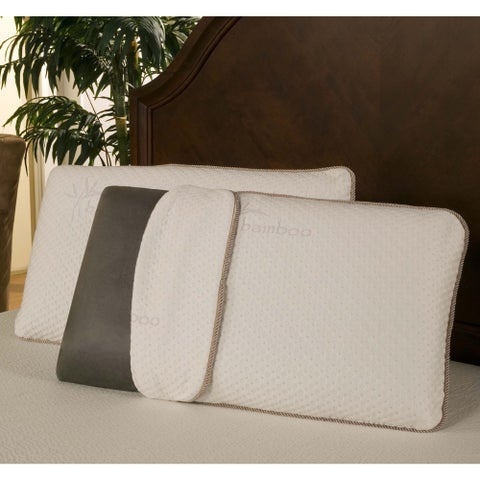 Sleep Zone Bamboo Charcoal Memory Foam Pillow