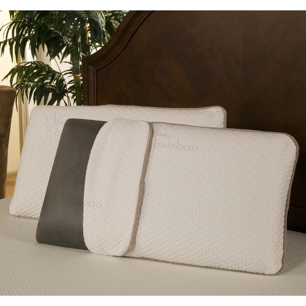 Sleep Zone Black Diamond Memory Foam Pillow