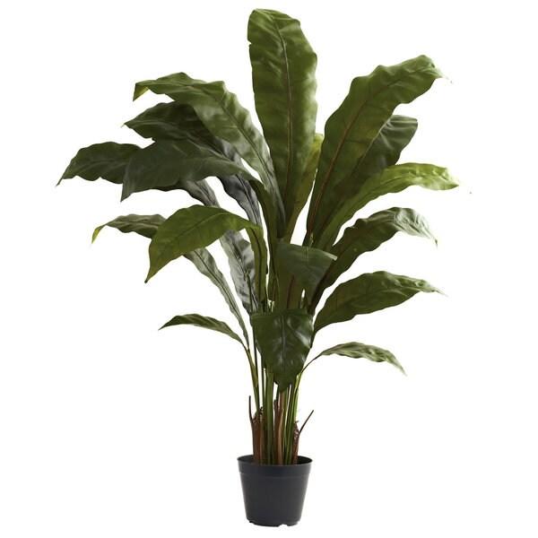 Nearly Natural 3.5-foot Birdsnest Decorative Plant