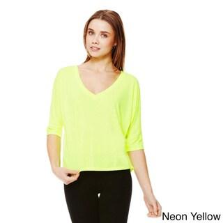 Bella Women's Flowy V-neck Cropped T-shirt
