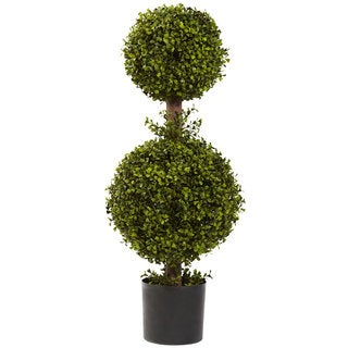 35-Inch Double Boxwood Topiary
