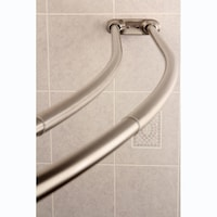Bath Bliss Expandable 42 to 72-inch Curved Shower Curtain Rod - Free ...