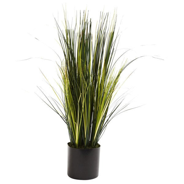 3-Foot Faux Onion Grass Plant