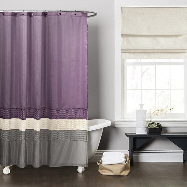 Shop Copper Grove Mostri Purple Grey Shower Curtain