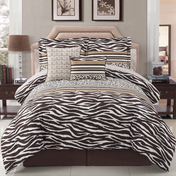 VCNY Africa 10-piece Reversible Comforter Set