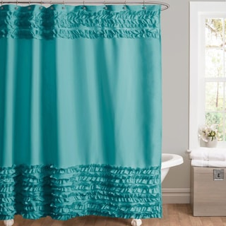 Lush Decor Skye Turquoise Shower Curtain