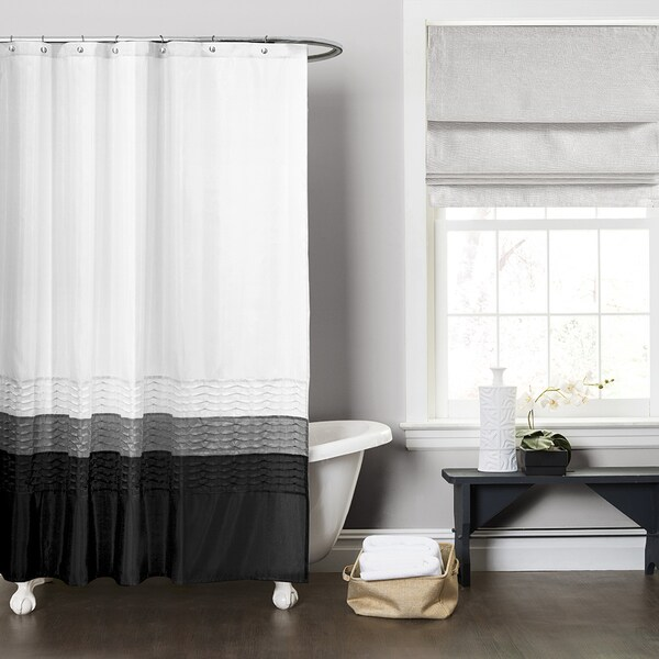 Lush Decor Mia White Shower Curtain Free Shipping On Orders Over 45 15675638