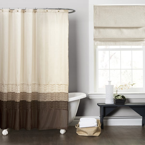 Shop Copper Grove Wareham Wheat Taupe Chocolate Shower Curtain
