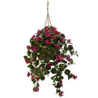 Shop nasturtium hanging basket silk plant free shipping today bougainvillea silk hanging basket mightylinksfo