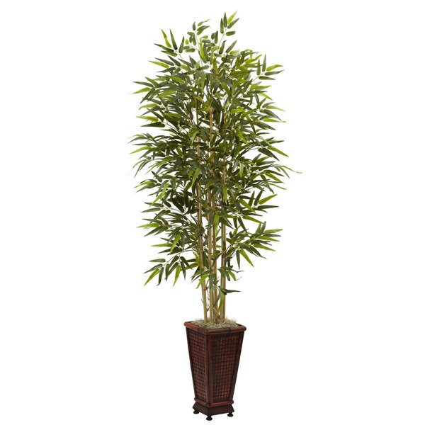 6-foot Bamboo Tree with Decorative Planter