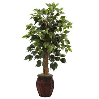 44-inch Ficus Tree and Decorative Planter