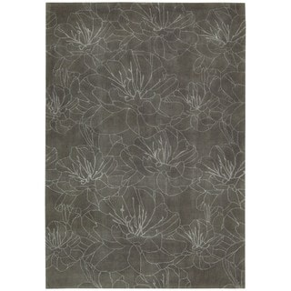 kathy ireland Palisades Architectural Wildflower Mushroom Area Rug by Nourison (3'9 x 5'9)