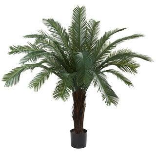 Indoor/ Outdoor 5-foot UV Resistant Cycas Tree - Green