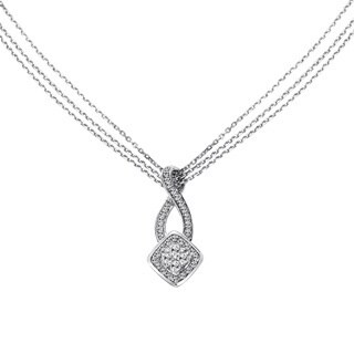 Cambridge Sterling Silver 1/2ct TDW Diamond Multi-strand Necklace