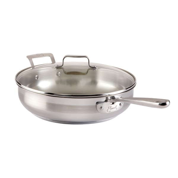 Shop Emeril Stainless Steel Five Quart Saute Pan With Lid
