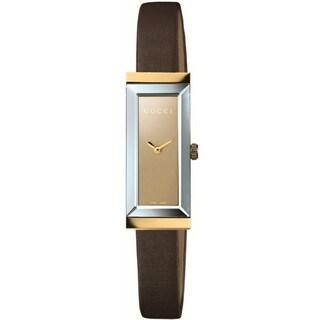 Gucci Women's 18-karat Gold Case Brown Dial Watch