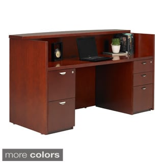 Mayline Mira Veneer Shell Reception Desk