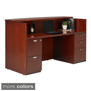 Mayline Mira Reception Station with Double Pedestal Box/Box/File and File/File