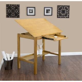 Studio Designs Americana II 48 Inch Wide Light Oak Wood Drafting And Hobby  Craft Table