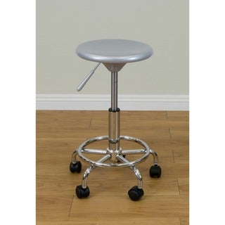 Studio Designs Silver/ Chrome Studio Stool