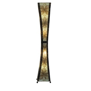 Eangee Natural Hour Glass Giant Floor Lamp