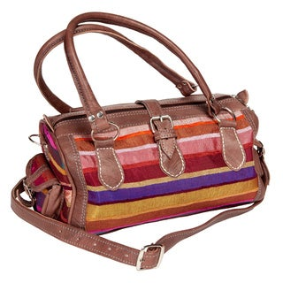Handmade Tangiers Multi-color Shoulder Bag (Morocco)