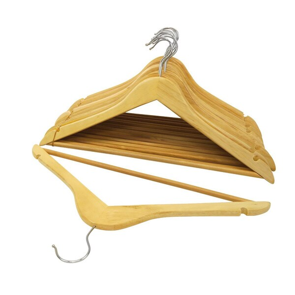 Shop Natural Wood Suit Hangers Pack Of 96 Free
