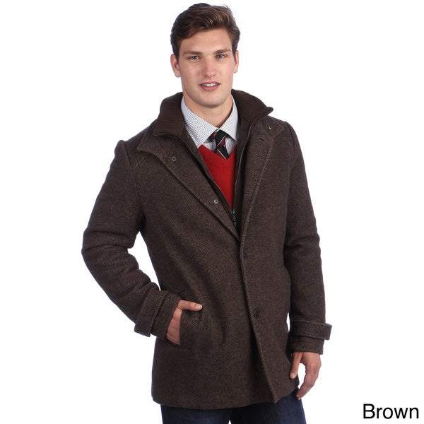 Kenneth Cole Men&39s Twill Wool Car Coat - Free Shipping Today