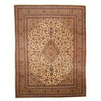 Herat Oriental Persian Hand-knotted 1960s Semi-antique Mashad Wool Rug (9'7 x 12'6) - 9'7 x 12'6