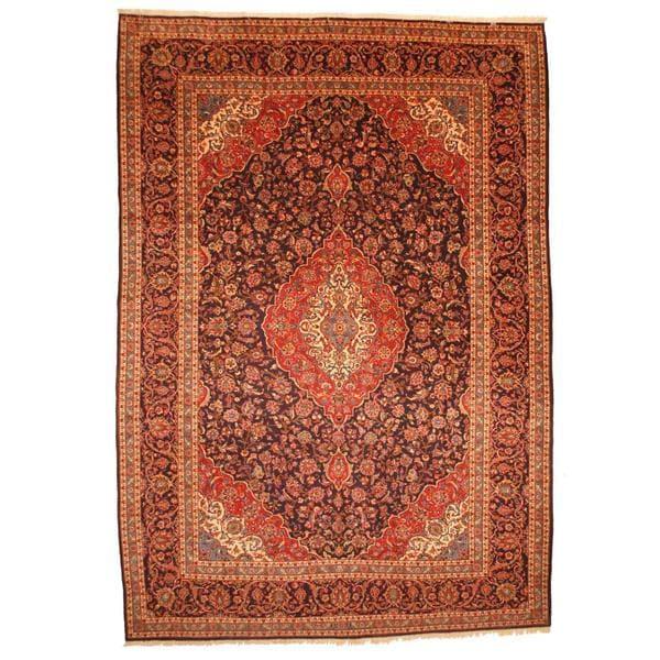 Handmade Herat Oriental Persian Kashan Wool Rug - 9'10 x 14'3 (Iran)