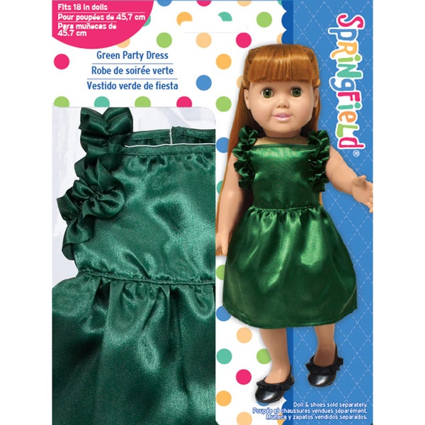 Springfield Collection Ruffled Dress-Hunter Green