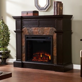 Harper Blvd Hollandale Ebony Convertible Electric Fireplace
