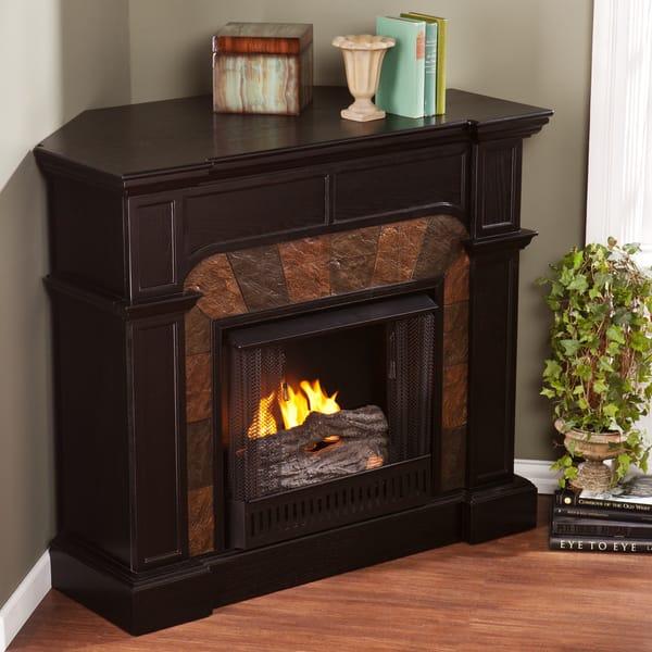 Shop Upton Home Hollandale Ebony Gel Fuel Fireplace Free