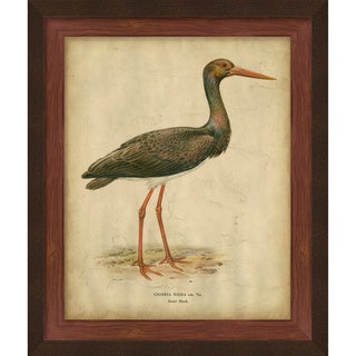 Von Wright 'Heron' Hand-Embellishment on Giclee Print
