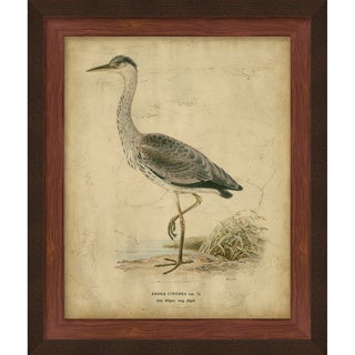 Von Wright 'Heron' Hand-Embellishment on Giclee Print