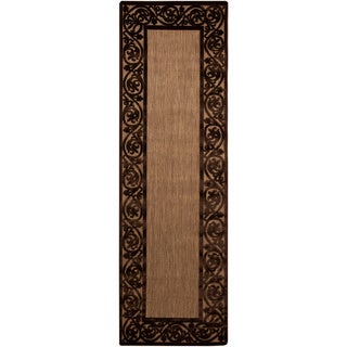Woven Natural Olefin Transitional Electron Rug (2'5 x 7'10)