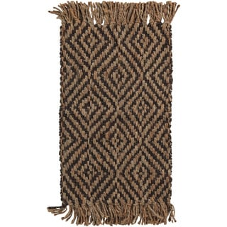 Hand-woven Natural Jute Natural Fiber Wakeman Rug (2' x 3')