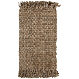 Hand-woven Natural Jute Natural Fiber Osane Rug (2' x 3')