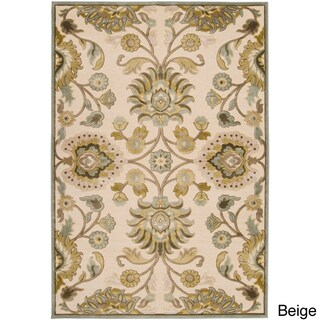 Hand-woven Traditional Beige/Brown Floral Durban Area Rug (5'2 x 7'6) (2 options available)